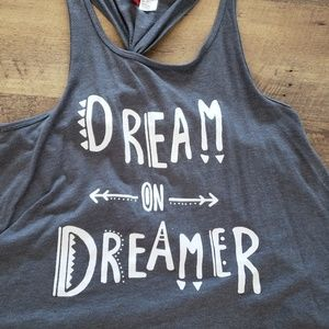 Dream On Dreamer Divided H&M Racerback Top XS